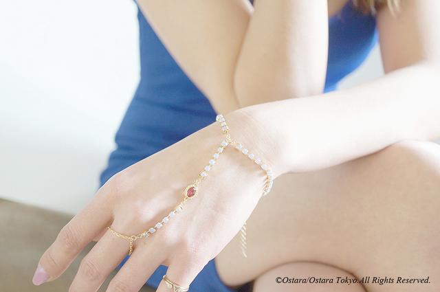 【Procida】Ring/Finger Bracelet(Fuchs...
