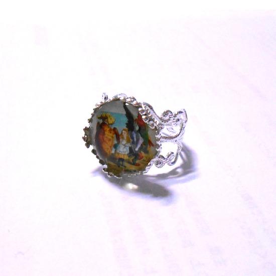 不思議の国のアリスのリング指輪-1
