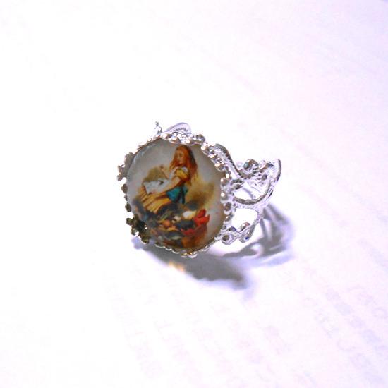 不思議の国のアリスのリング指輪-3