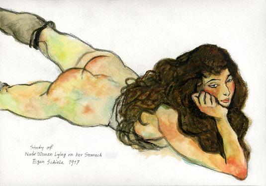 Study of Egon Schiele