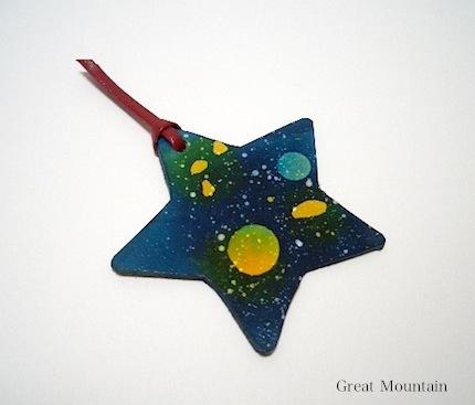 宇宙 星空 天体 しおり 革 ブックマーク 星 レザー