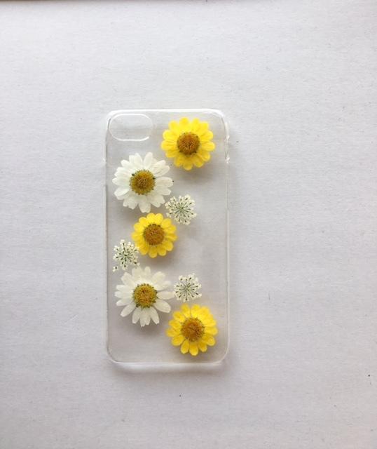iphone7/6/6S  ビオラの押し花スマホケース