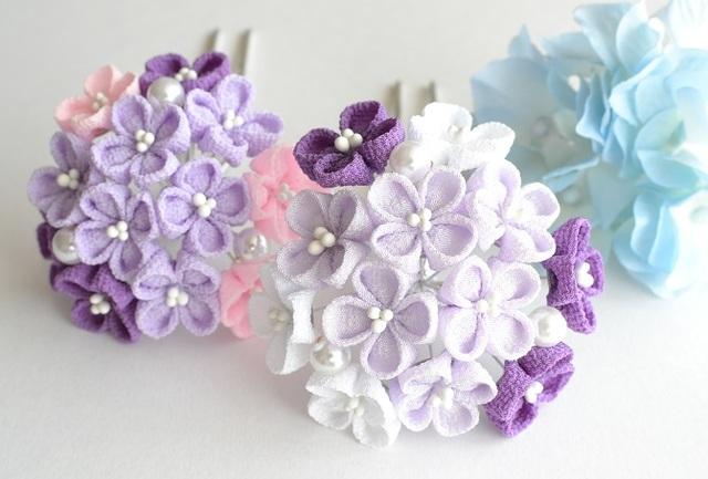 tumami*紫陽花 簪