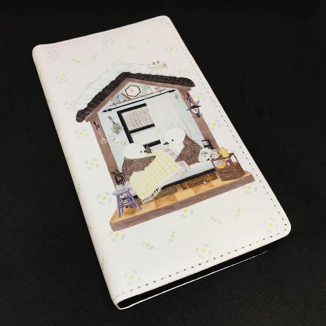 スマホ用手帳型ケース シマエナガ nest...