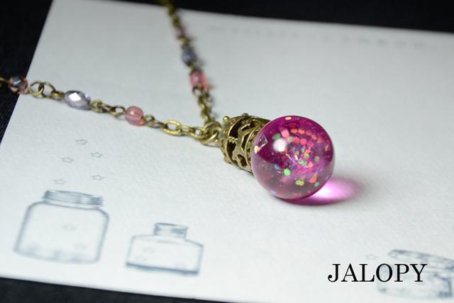 花弁香水のネックレス