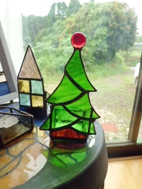 クリスマスツリーのキャンドルホルダー