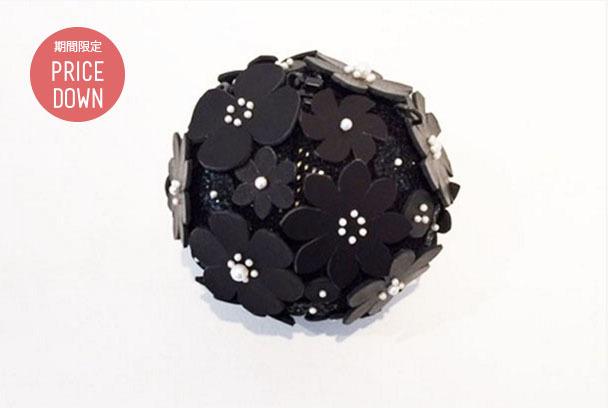 お花のパーティーバッグ/ブラック