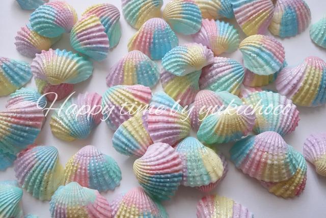 【新作】虹色貝殻5枚セット
