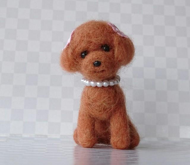 羊毛フェルト トイプードル (茶色)
