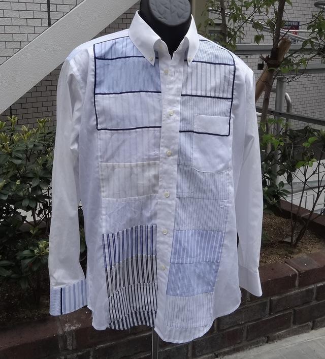 メンズシャツ(パッチワーク)