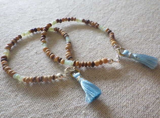 Perubian Blue Opal wood bracelet ll