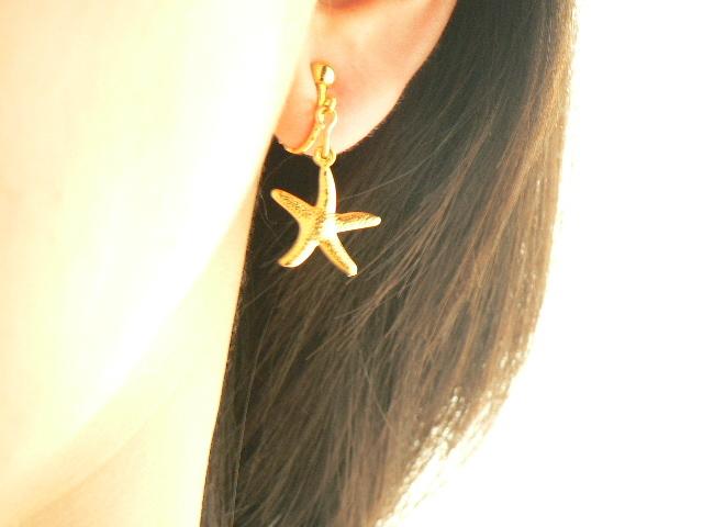 ヒトデ シースター(海星)のイヤリング