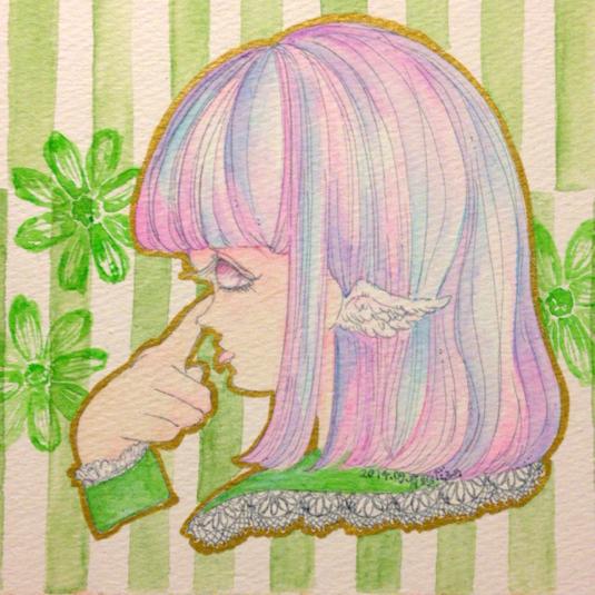 【原画】あっかんべーの女の子1