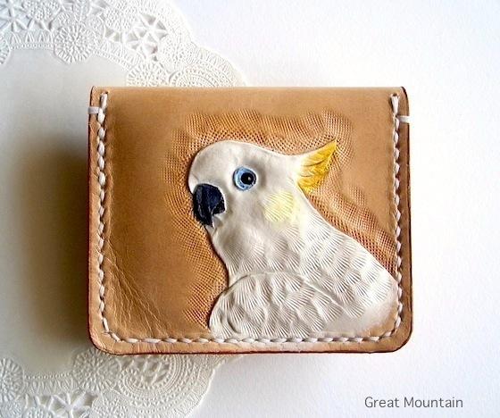 インコ オウム バタン 白色オウム 財布 ...