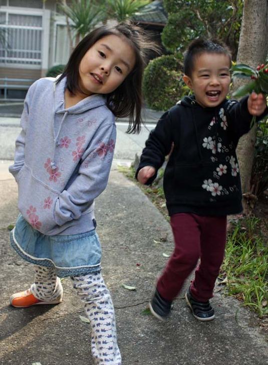 【JIKUU】 染込/キッズプルパーカー『桜』