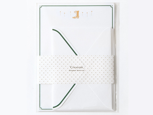 crescent 箔押しレターセット