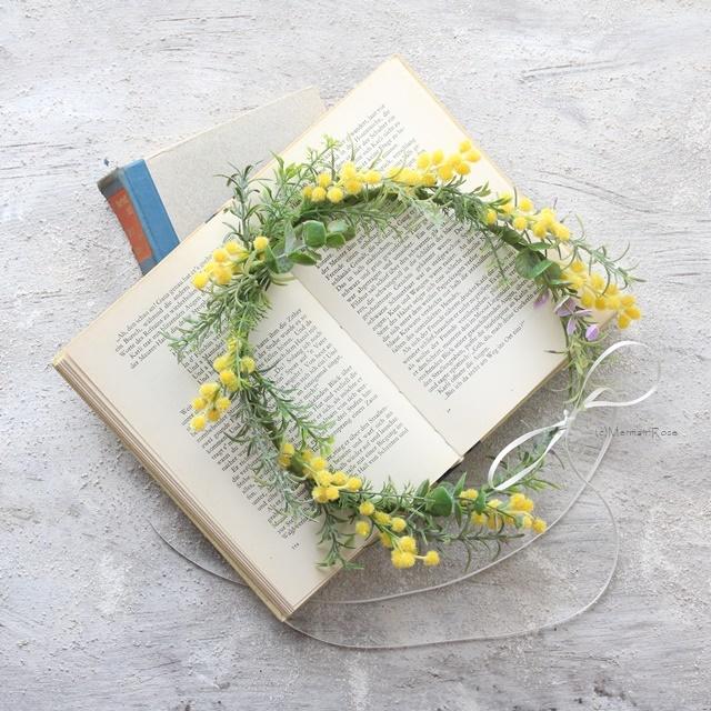 ミモザのハーベスト花冠【花かんむり】