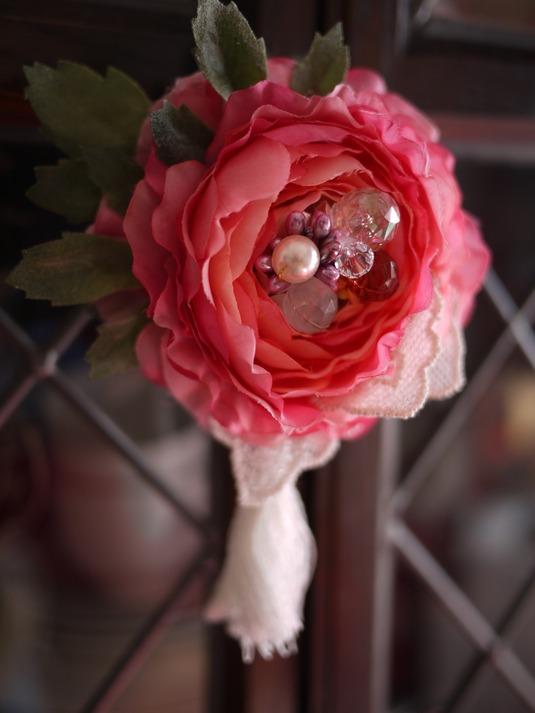 ピュアピンクのラナンキュラス