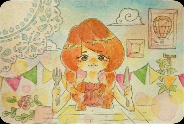 【W.world】HappyBirthday イラスト バースディカード