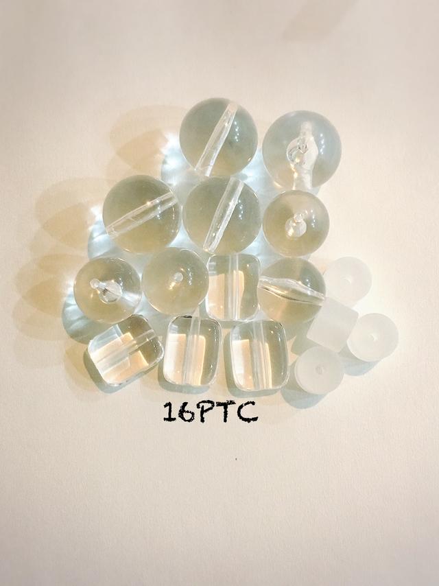 クリアビーズ  4種類ミックス 16PTC