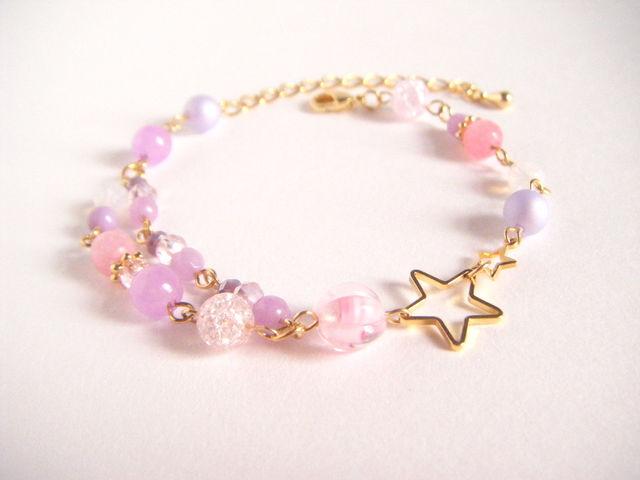 送料無料*お星様とパープルピンク色の...