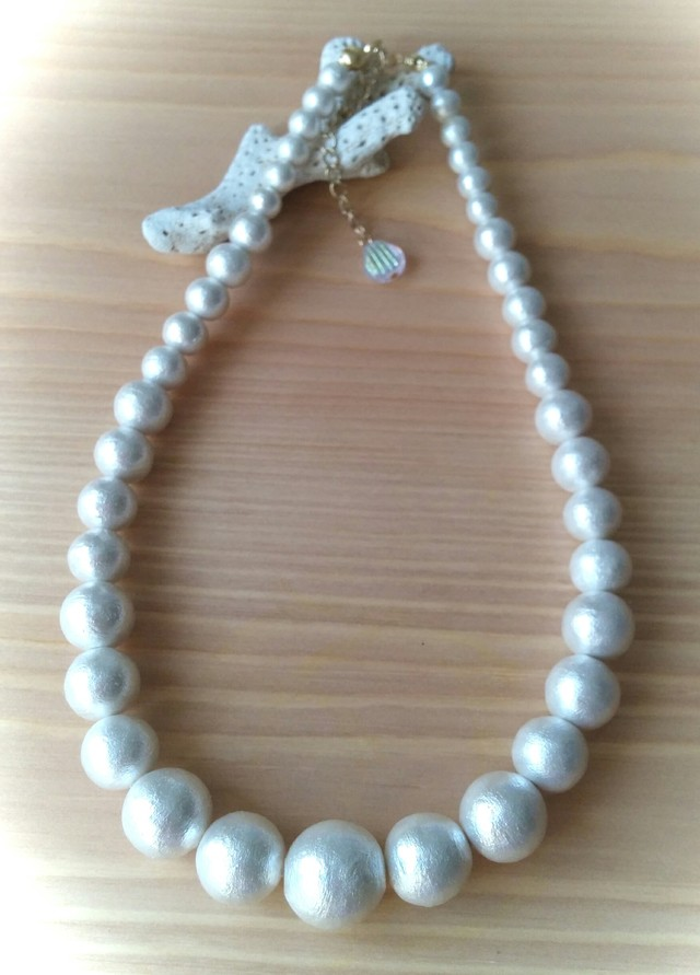 from the sea Cotton pearl Necklace