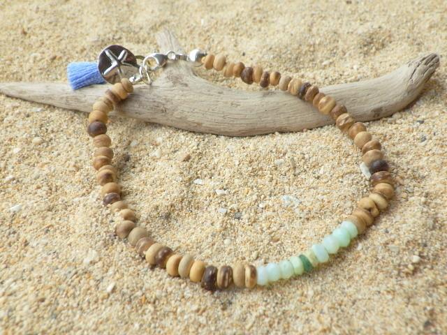 Perubian Blue Opal wood bracelet *サ...