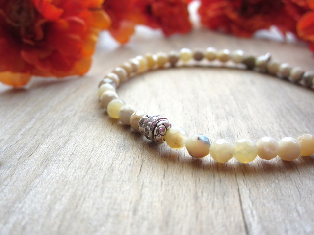 African Opal Stretch Bracelet.