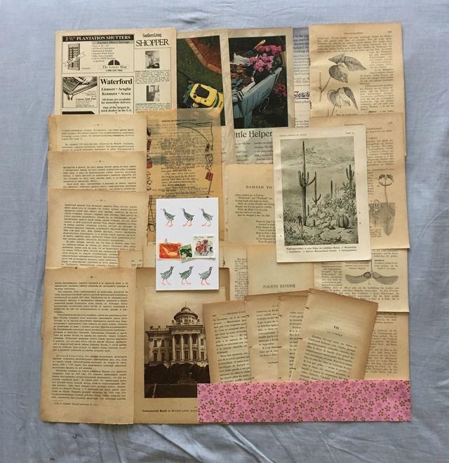 古書のページを中心に紙の詰め合わせ 21