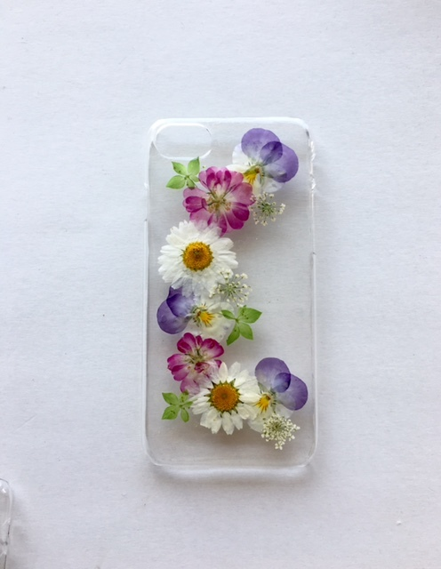 iphone7/6/6S  華やかな押し花スマホケース