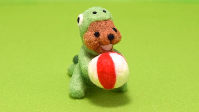 ボールに夢中なクマノザウルス