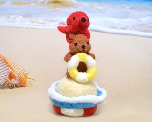 浮き輪コグマと仲良しタコちゃん