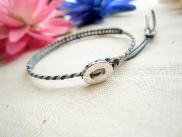 Thin Waxed Linen Bracelet.