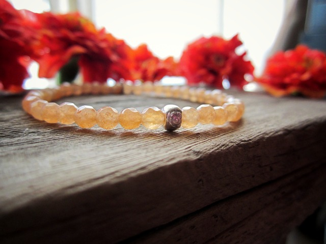 Orange Aveturine Stretch Bracelet.