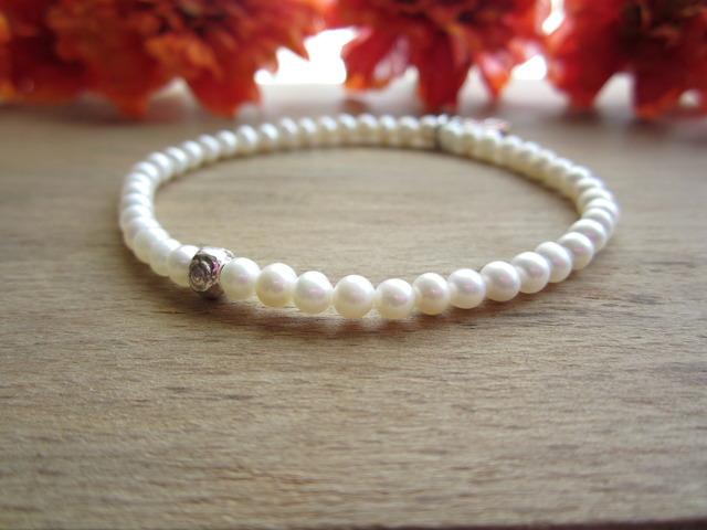 Freshwater Pearl Stretch Bracelet.