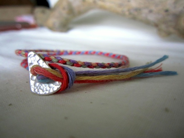 Thin Color Hemp Bracelet. (2wrap) / wo