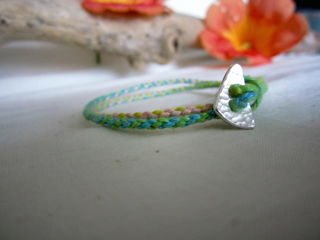 Thin Color Hemp Bracelet. (2wrap) / IL