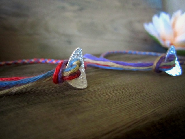 Thin Color Hemp Anklet & Bracelet./WO