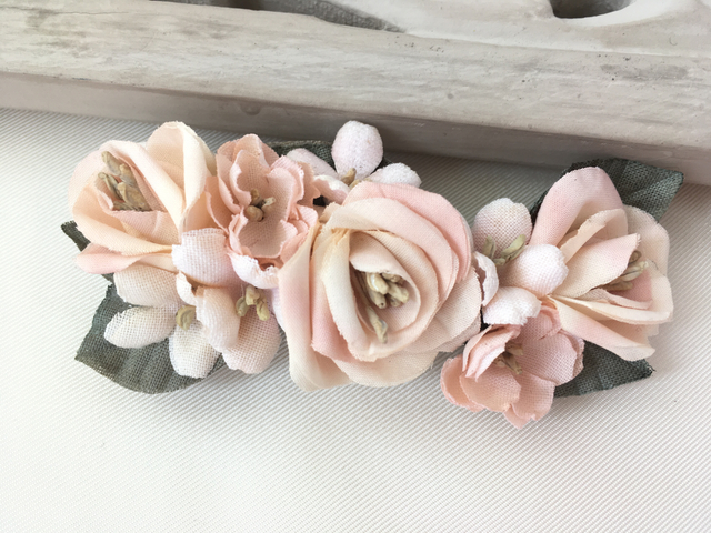 spring pinkバレッタ 薔薇/桜/スミレ