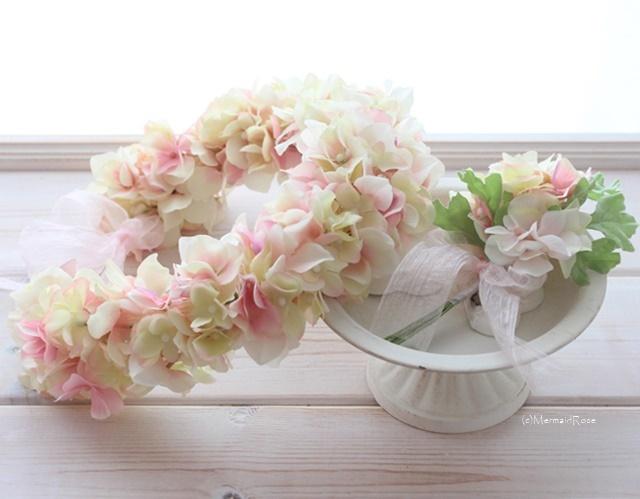 花冠&ブートニア*ボリュームアジサイ(?...