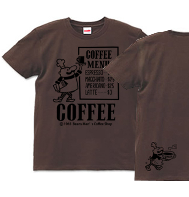 ビーンズマンのCOFFEE SHOP XS〜XL T...