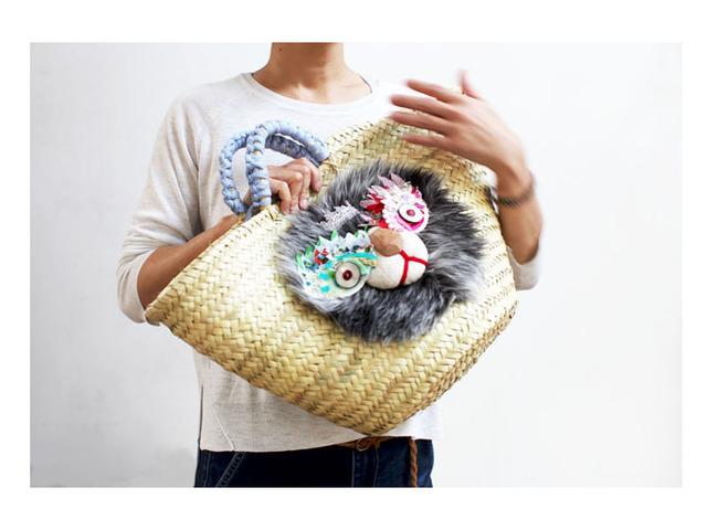<予約開始>Lion kago bag/Lグレーミックス