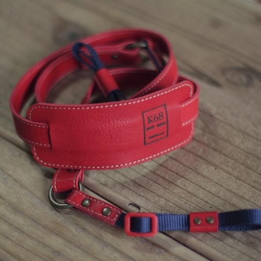 Camera strap #18 Red×Navy