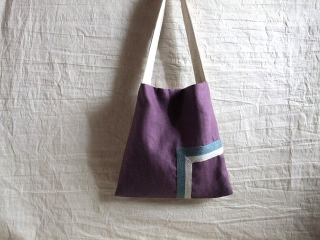 itoiro square bag purple (b/g)