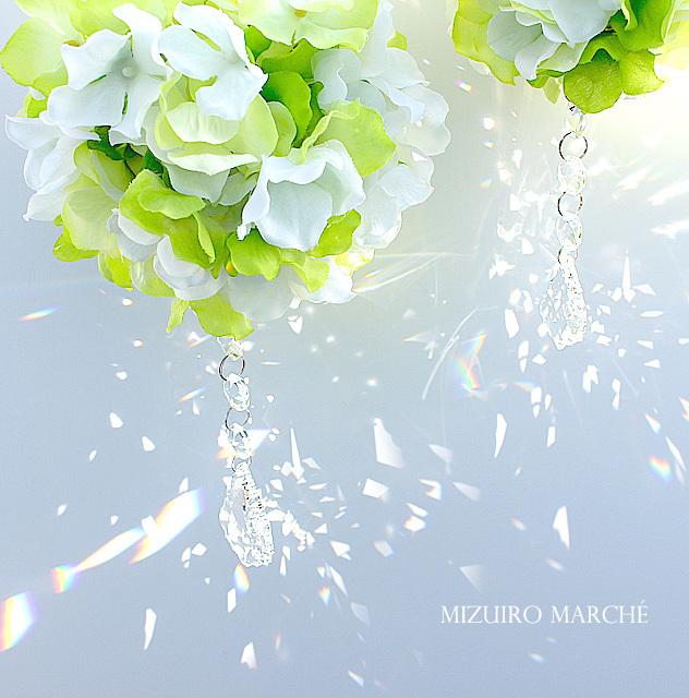 M・新緑の紫陽花フラワーボール *  + ス...