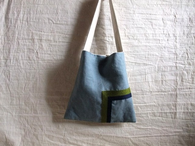 itoiro square bag blue (g/n)
