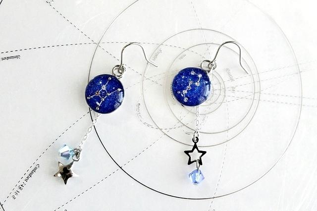 かに座&北斗七星−星空ピアス『星のささやき』