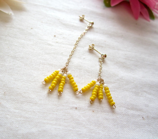 14K GF & Seed Beads Pierce. ~yg~
