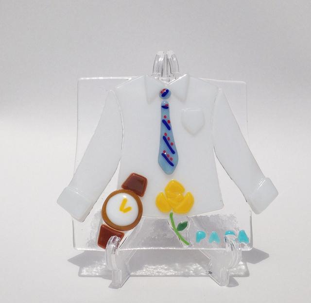 『父の日』のガラスプレート