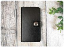 【 Huawei P10 / P10 Lite 】手帳型ケース シンプルなブラックレザー調ケース♪  男性にもおすすめ♪ スマホカバー カード収納可能